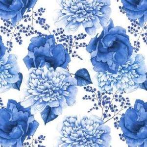 Bilde av Bomull Blue Jubilee - blå bukett