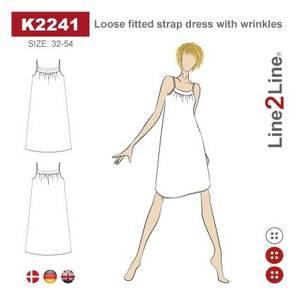 Bilde av Line2Line K2241 Løstsittende stroppekjole med rynker
