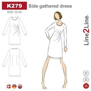 Bilde av Line2Line K279 Kjole med rynker i siden