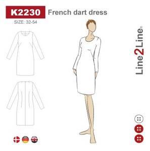 Bilde av Line2Line K2230 Kjole med skrå brystinnsnitt