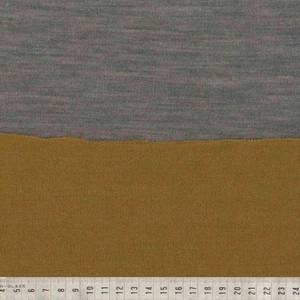 Bilde av Strikket merinoull - tosidig, ensfarget i gul og grå