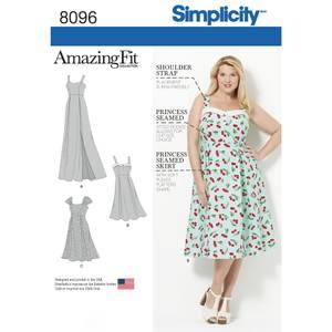Bilde av Simplicity 8096 Plus size kjole