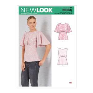 Bilde av New Look N6656 Bluse med og uten vide ermer
