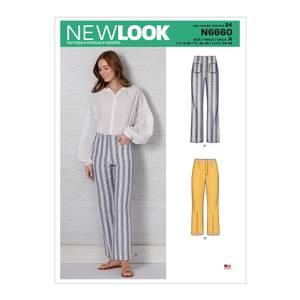 Bilde av New Look N6660 Bukse med høyt liv