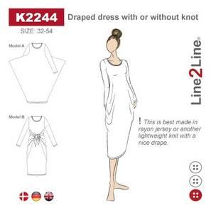 Bilde av Line2Line K2244 Drapert kjole - 2 varianter