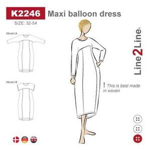 Bilde av Line2Line K2246 Maxi ballongkjole