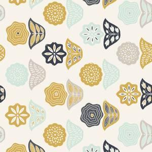 Bilde av Cotton+Steel Tidepool - Retro blomster