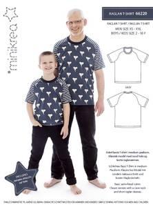 Bilde av Minikrea 66220 Raglan T-shirt, mann og gutt
