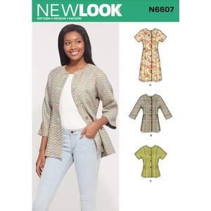 Bilde av New Look N6607 Jakke, tunika og topp.