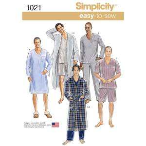 Bilde av Simplicity 1021 Morgenkåpe, nattskjorte og pysjamas