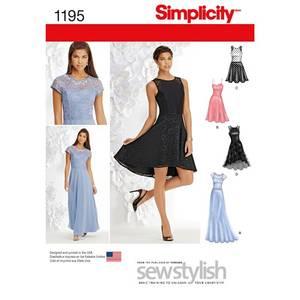 Bilde av Simplicity 1195 Penkjole