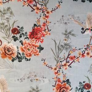Bilde av Lin/viskose - traner og blomster