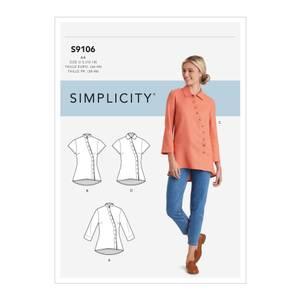 Bilde av Simplicity S9106 Skjorte med knapper