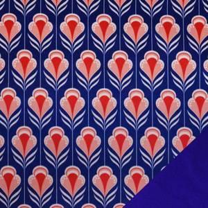 Bilde av Softshell - Retro Blomster, blå og rød