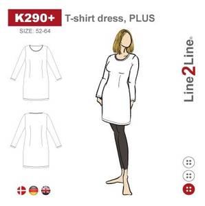 Bilde av Line2Line K290+ T-skjorte kjole (str. 52-64)