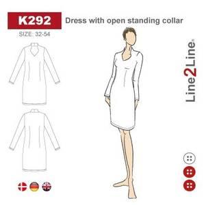 Bilde av Line2Line K292 Kjole med åpen ståeende krage
