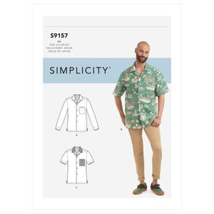 Bilde av Simplicity S9157 Skjorte til mann