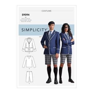 Bilde av Simplicity S9094 Kostyme skoleuniform
