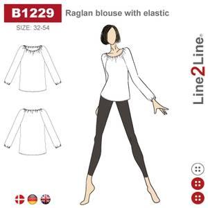 Bilde av Line2Line B1229 Raglan bluse med elastikk