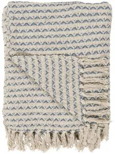 Bilde av Pledd natur/blå mønster