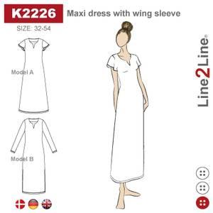 Bilde av Line2Line K2226 Maxikjole med vingeermer