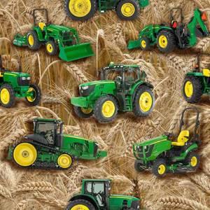 Bilde av Jersey - traktor, grønn på korn