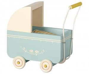 Bilde av Maileg - Micro dukkevogn, blå